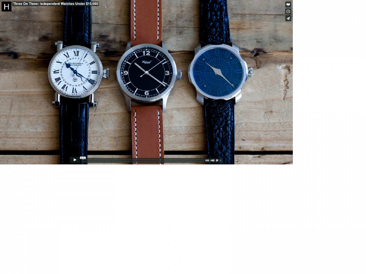 Three on Three watches best independent watches under $15,000 Dollars