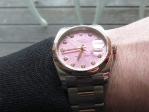 The Rolex Datejust 116201 Stainless Steel With 18k Everose Gold