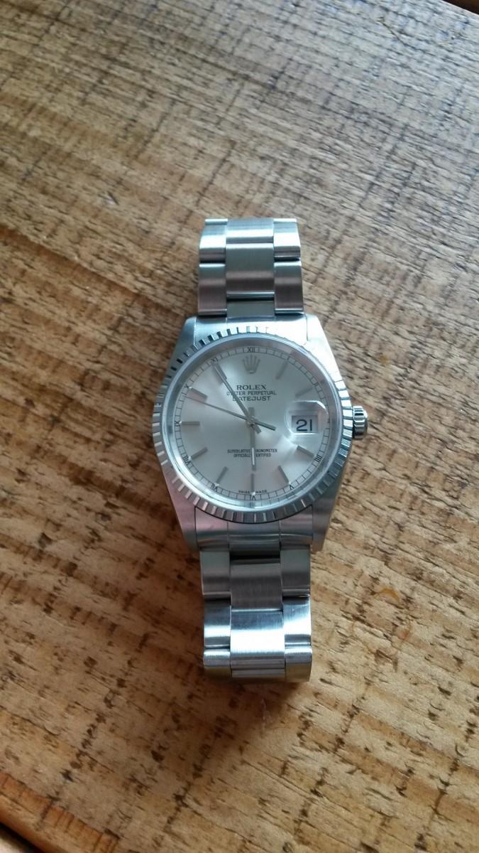 The Rolex Datejust 16220 Steel on Oyster Bracelet