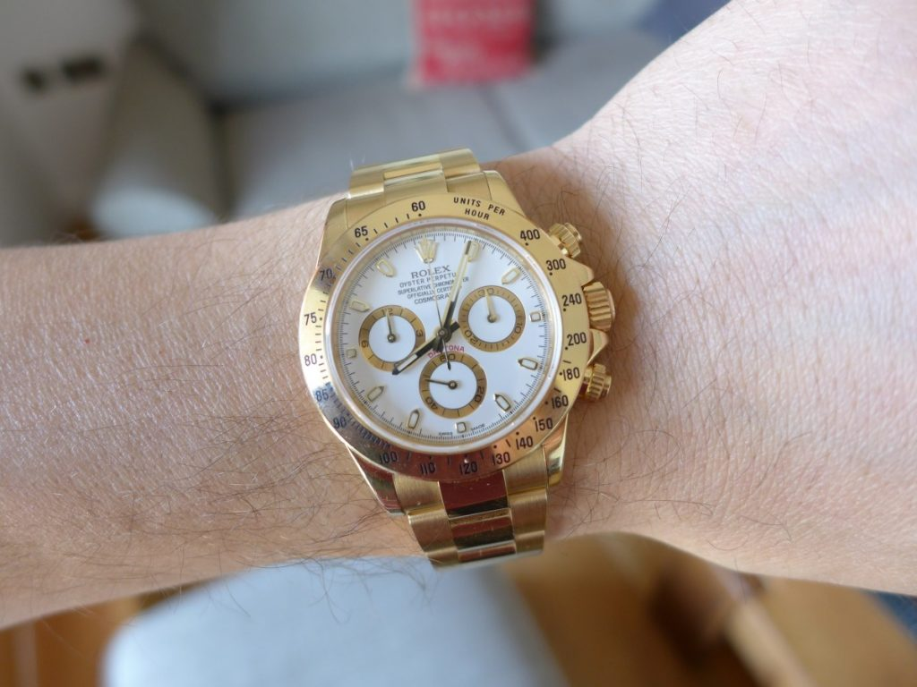 A Day With Rolex Daytona 116528 Solid Gold 18k The Watch