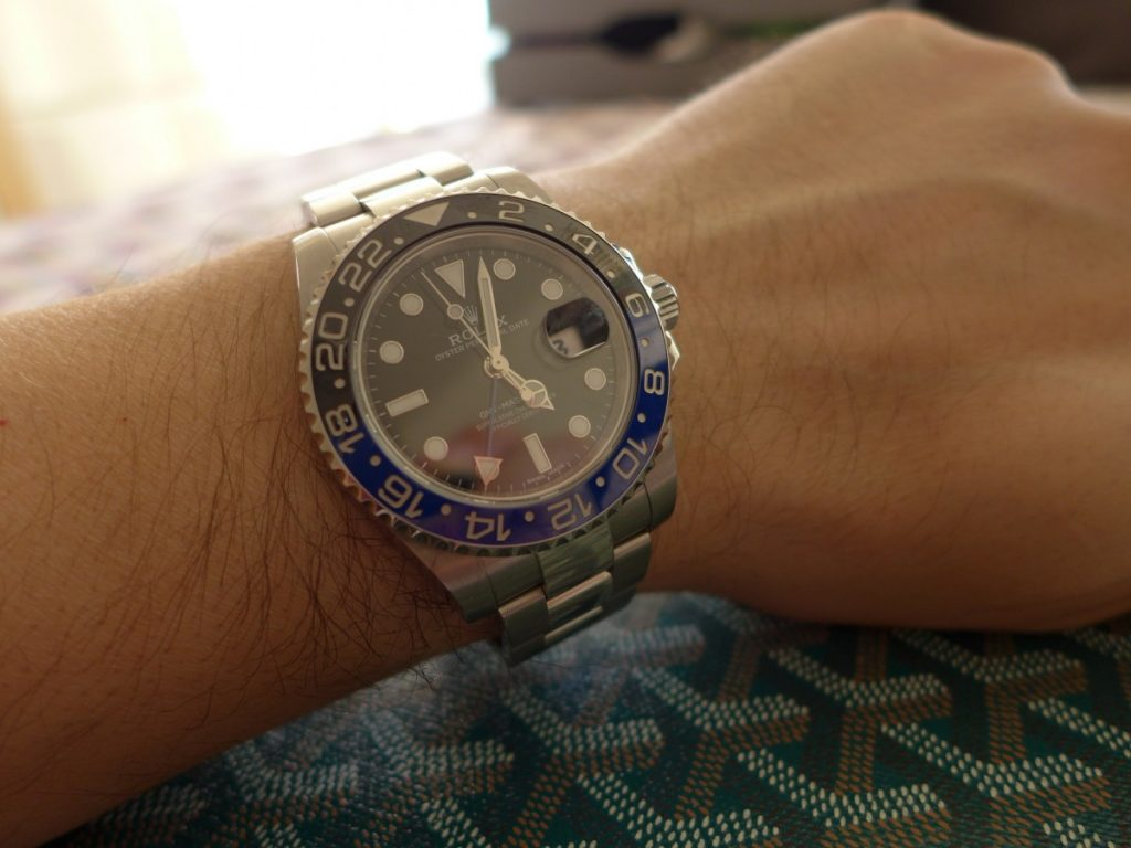 Rolex Batman Wrist Shot