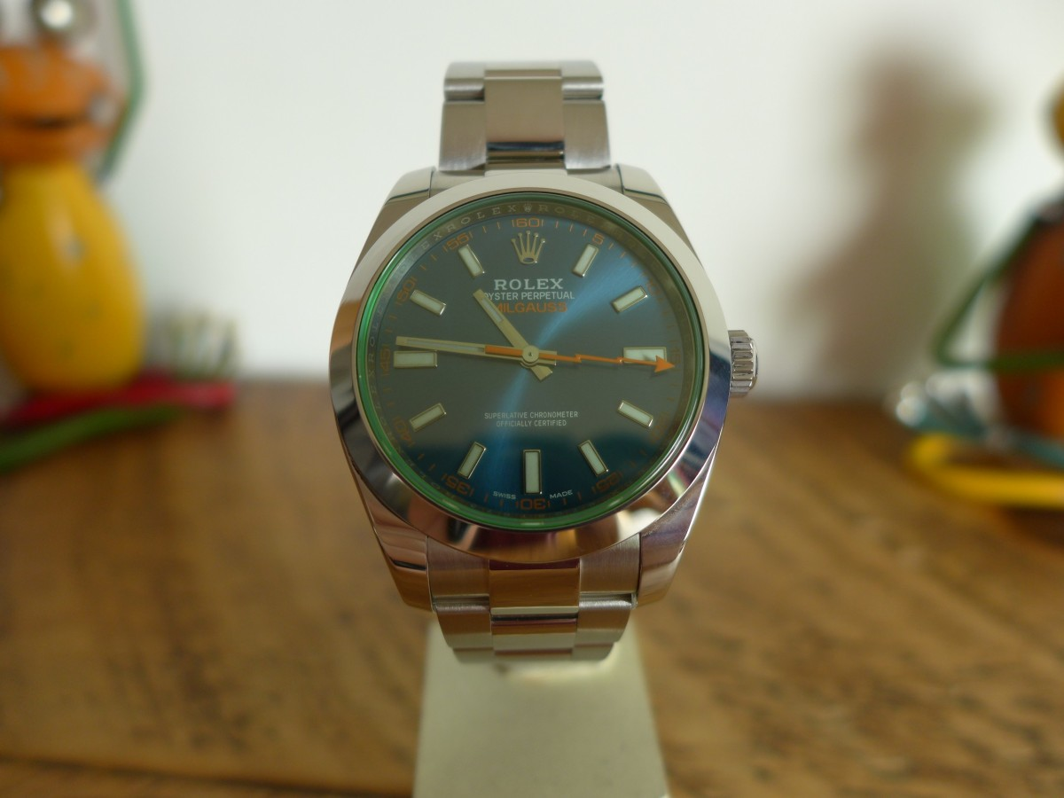 The Rolex Milgauss 116400GV Blue